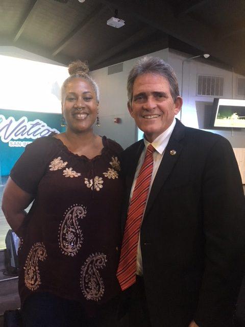 Angela and the Mayor Davis